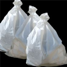 Courier Sacks Plain White -Robust Vinyl Material - Size 915 mm x  1525 mm  -  100 sacks per roll